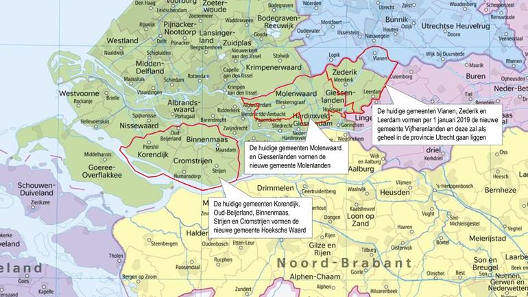 Kaartenmakers Draaien Overuren Door Herindeling Zuid Holland